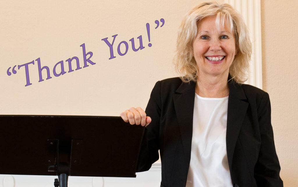 "Maureen says ""Thank You!"""