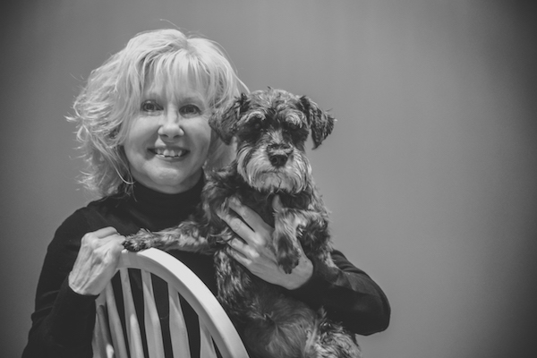 Maureen with dog, Shae